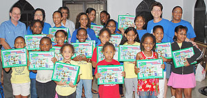 Savannah Girls Brigade group photo with kits